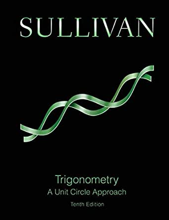 trigonometry a unit circle approach 10th edition ebook