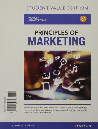 principles of marketing 16th edition ebook