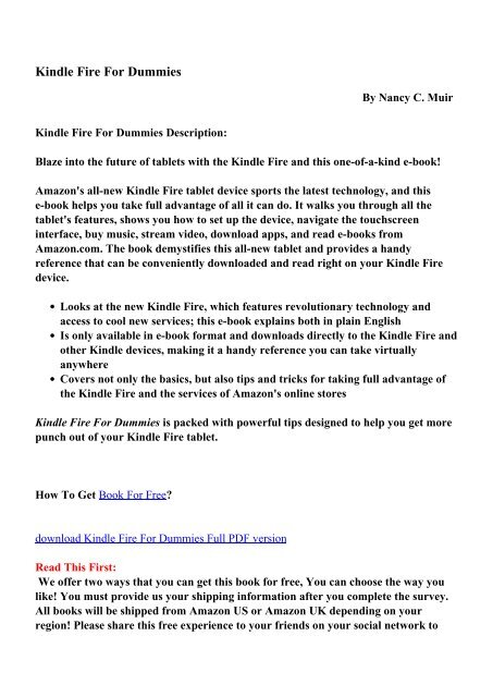 free ebooks for kindle fire download