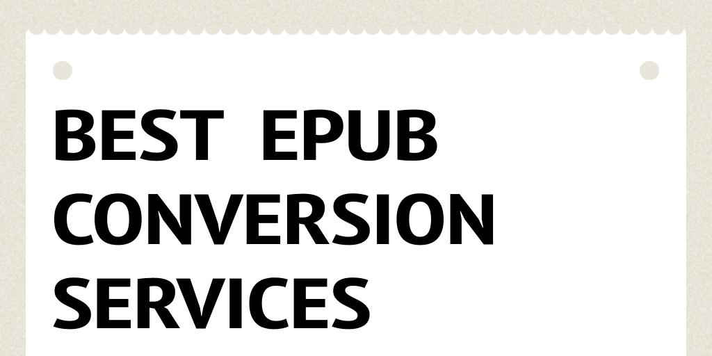best epub conversion for comics