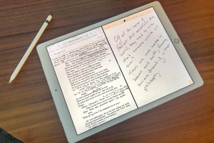 ebook note taking ipad pro