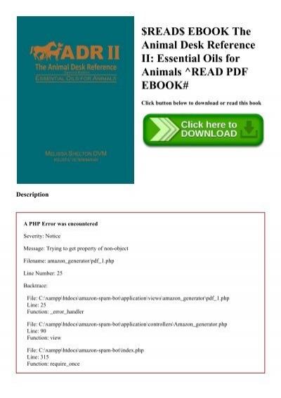 essential oils animal desk reference epub