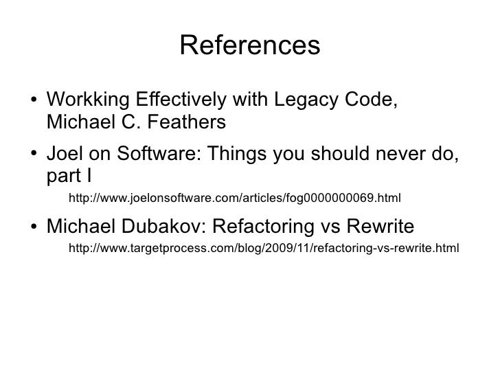 working effectively with legacy code epub